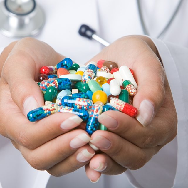Горсть таблеток для пенсионера