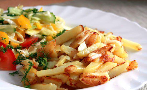 Люблю жаренную на сале картошечку…