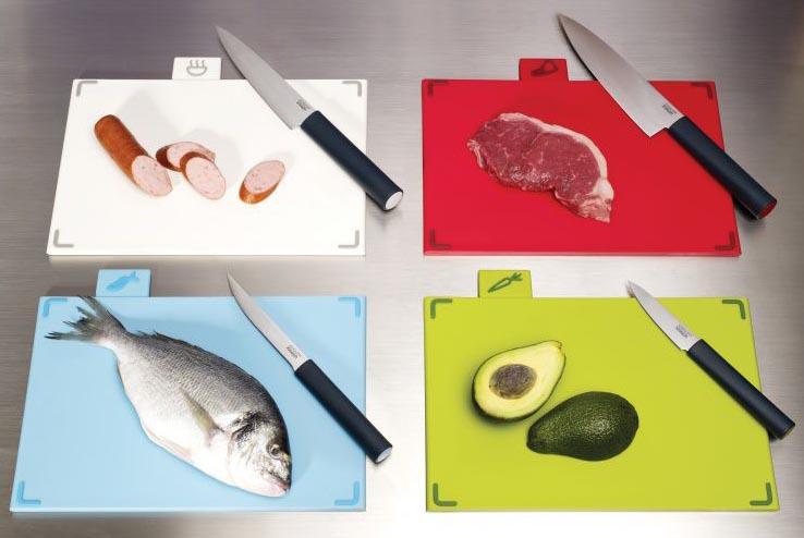На каких досках разделывать продукты?