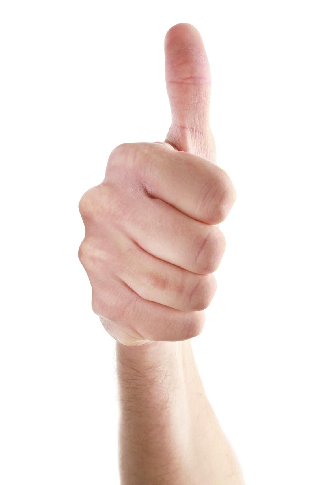 Разгибаем большой палец